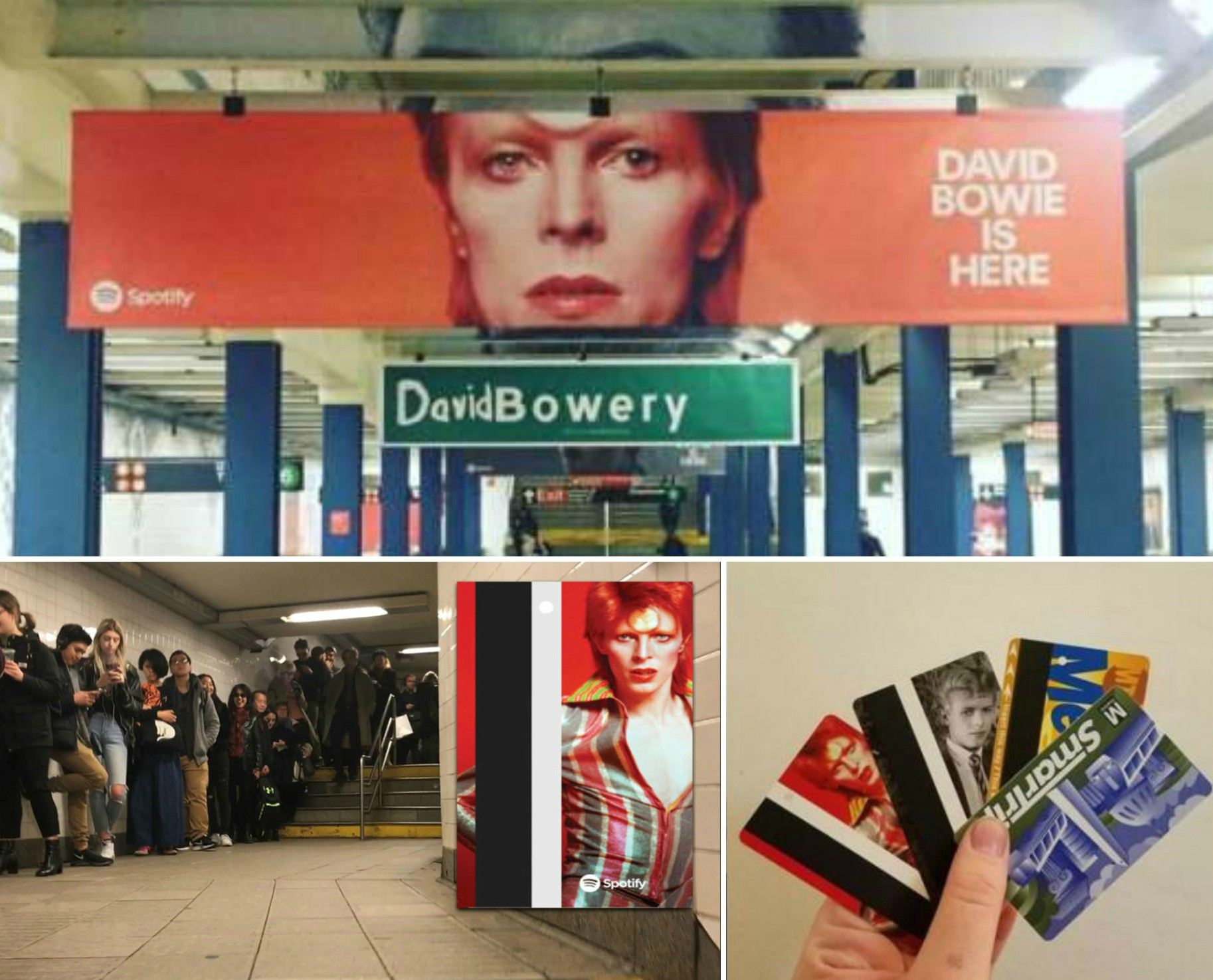 Ziggy Stardust in metropolitana: alcune subway station di New York celebrano David Bowie